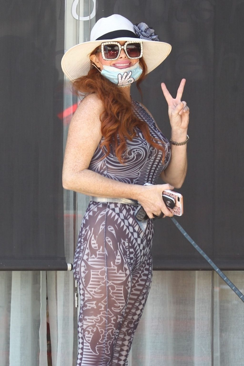 Phoebe Price Takes Her Dog for a Walk in Hollywood (14 Photos)