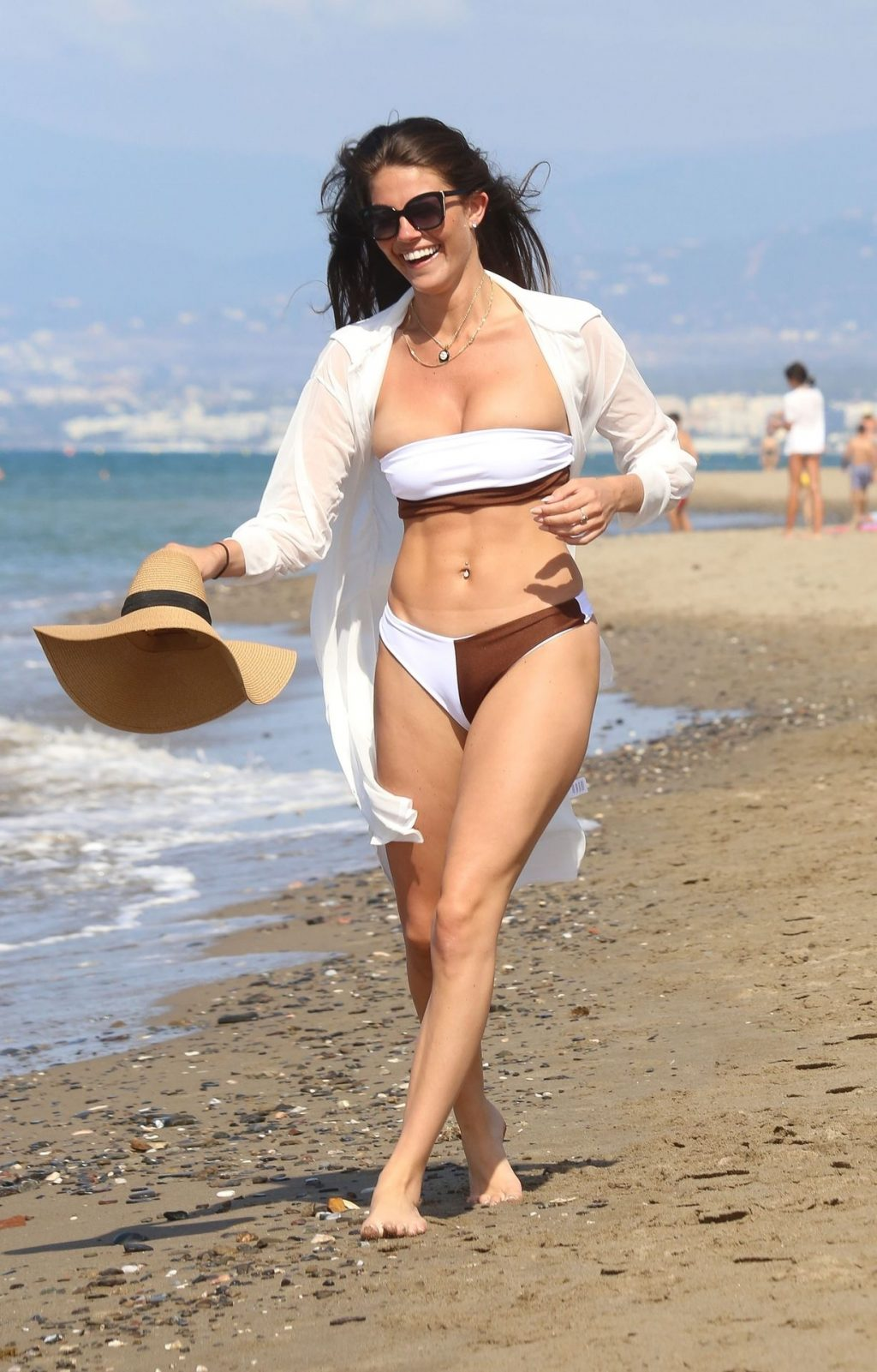 Rebecca Gormley & Biggs Chris Are Spotted on the Beaches of Marbella (52 Photos)