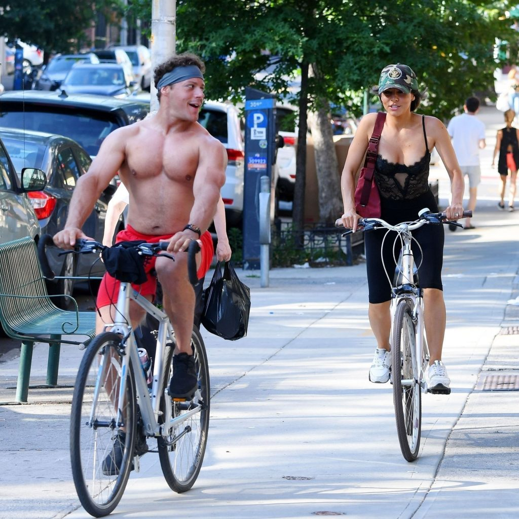 Roxanne Pallett & Jason Carrion Are Spotted Cycling in New York (18 Photos)