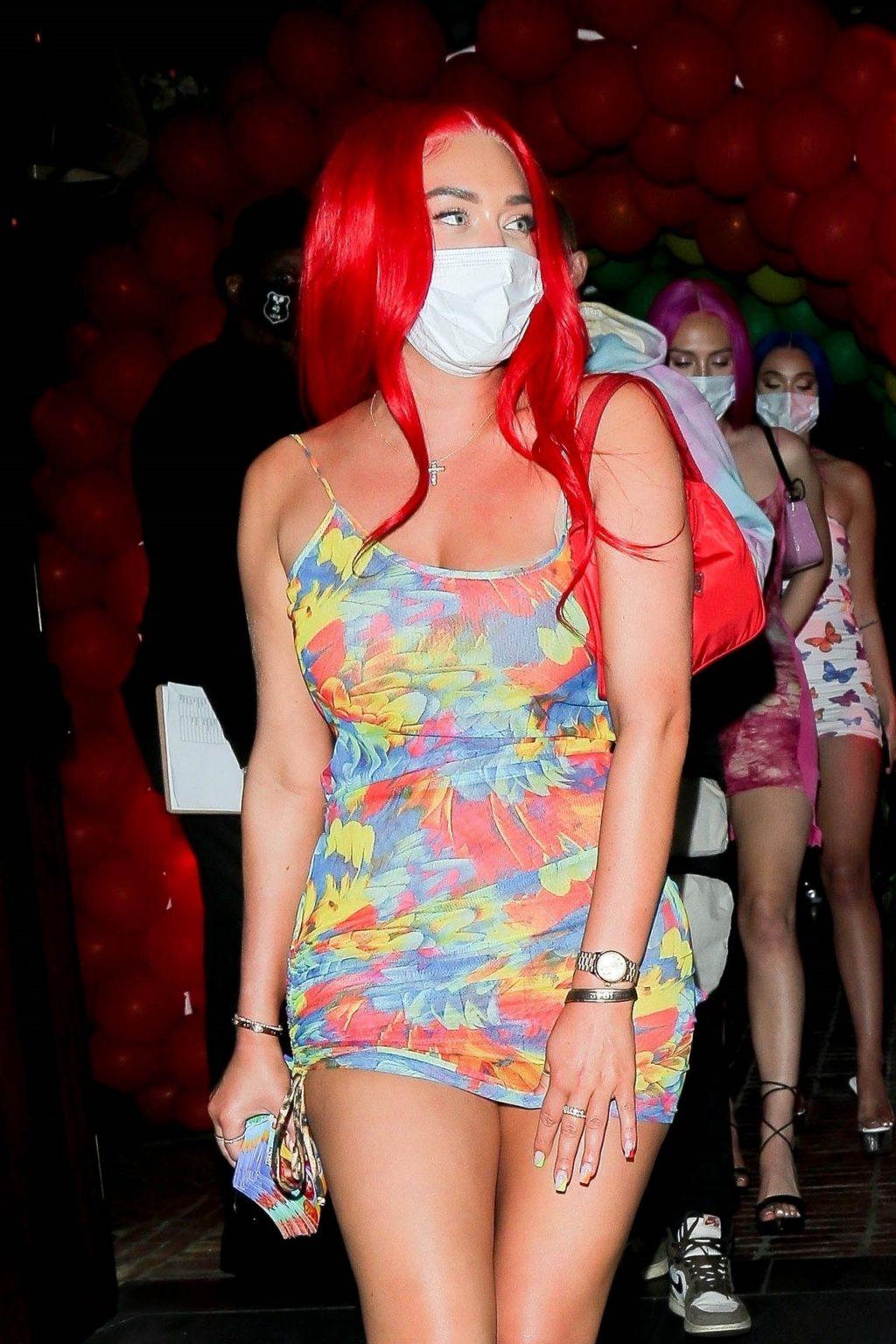 Leggy Stassie Karanikolaou Turns Heads Leaving a Birthday party in WeHo (29 Photos)