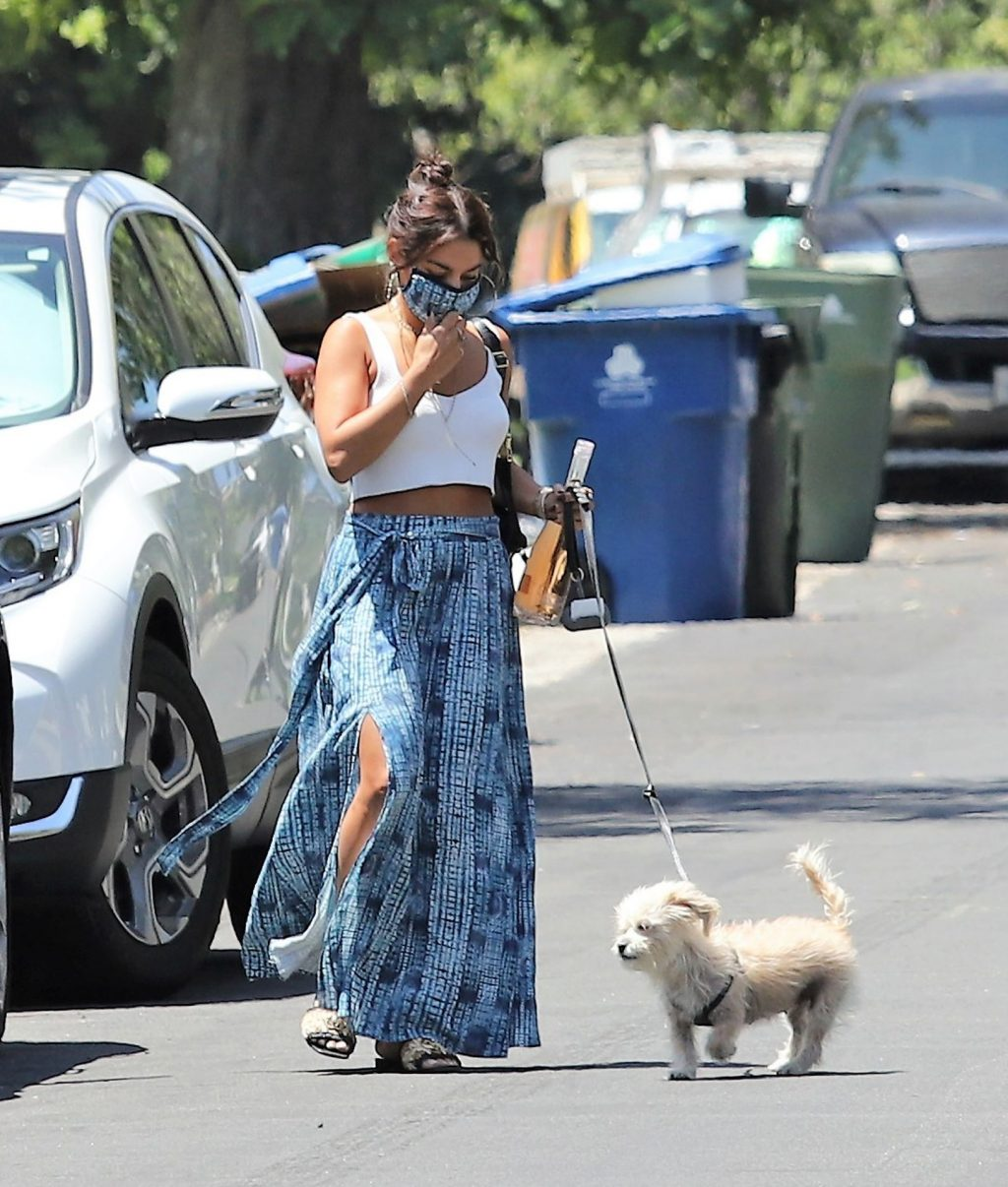 Sexy Vanessa Hudgens is Pictured Visiting a Friend With a Bottle of Wine in Hand in LA (20 Photos)