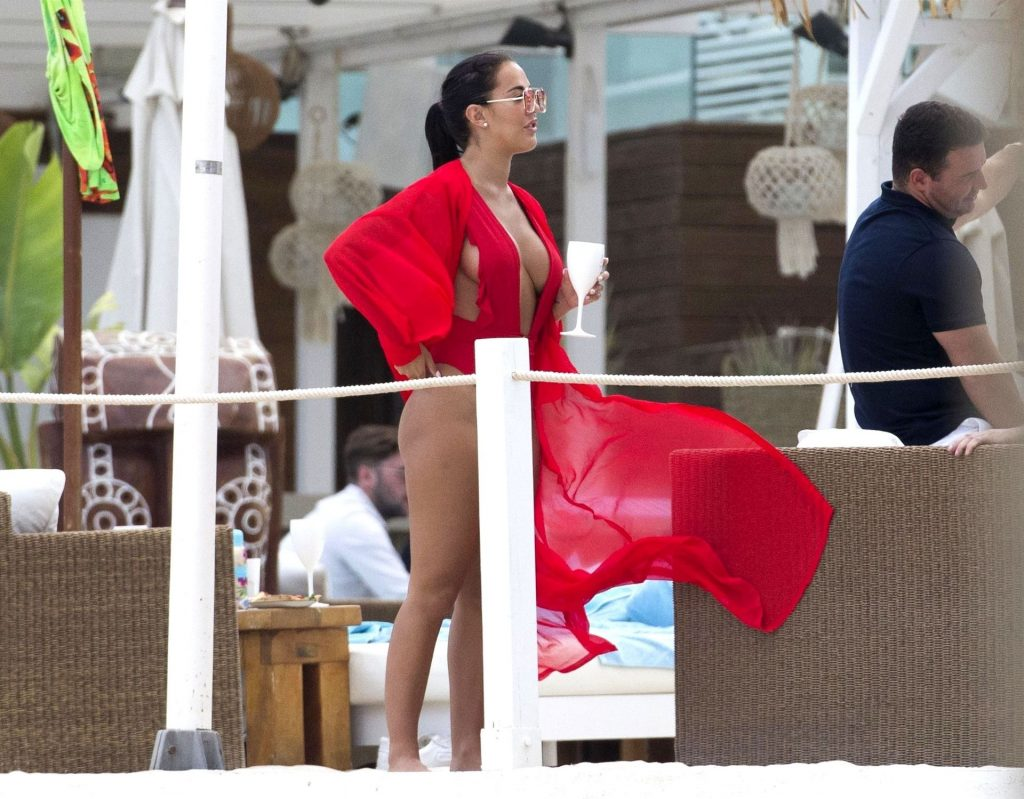 Yazmin Oukhellou Shows Off Her Assets in Majorca (43 Photos)