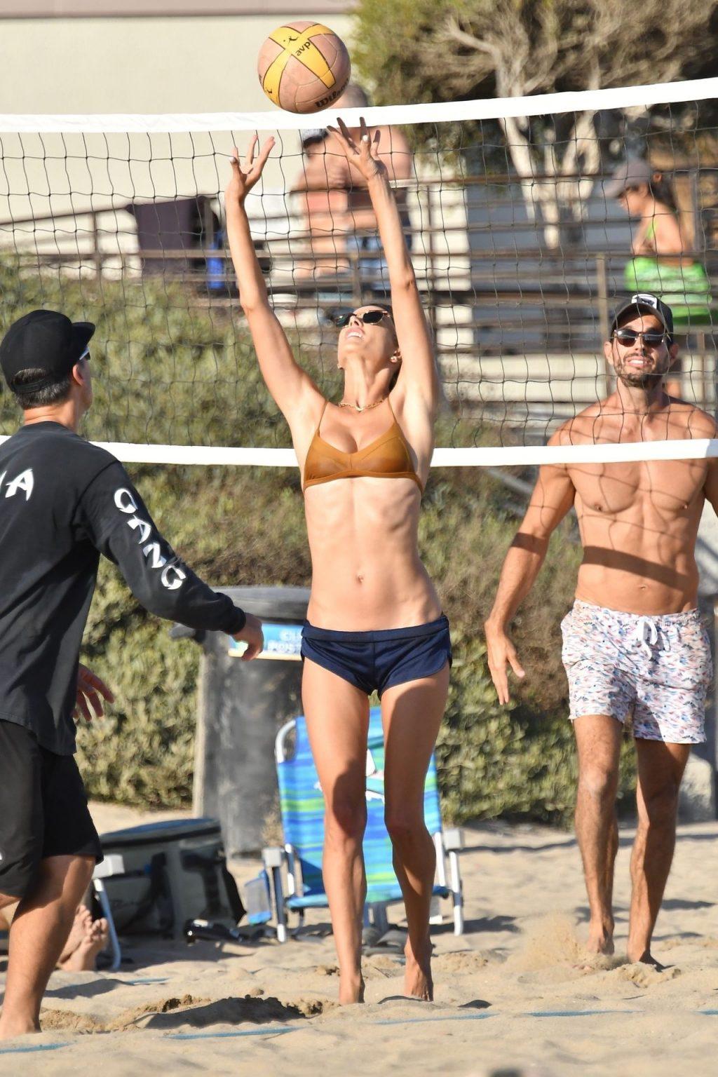 Alessandra Ambrosio Displays Her Slim Figure on the Beach (147 New Photos)