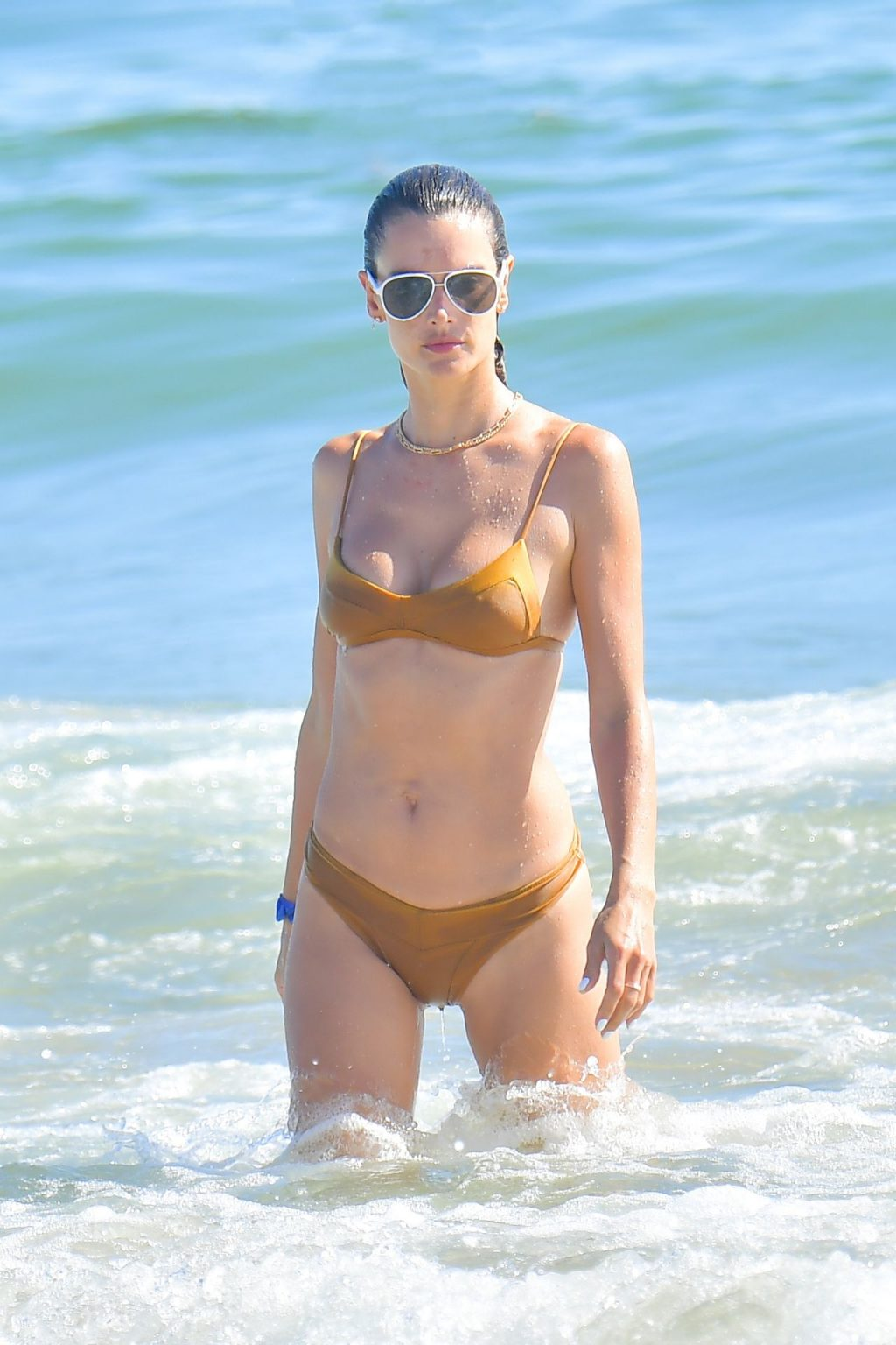 Alessandra Ambrosio Takes a Dip at the Beach in Malibu (14 Photos)