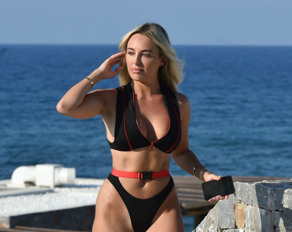Amber Turner Takes Selfies and Enjoys the Sun by the Pool in Greece (15 Photos)
