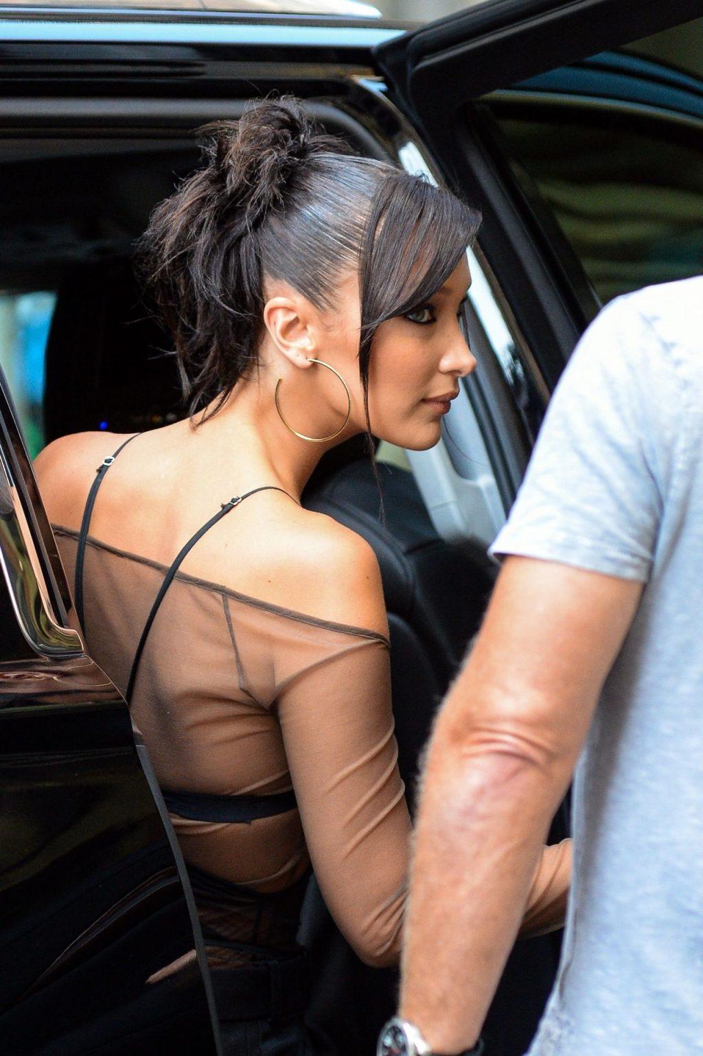 Sexy Bella Hadid is Seen in a Sheer Silk Top in New York City (85 Photos)