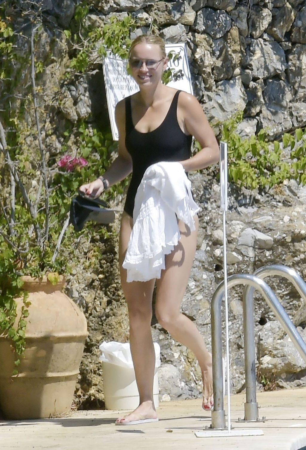 Caroline Wozniacki Soaks Up the Italian Sunshine with David Lee (23 Photos)