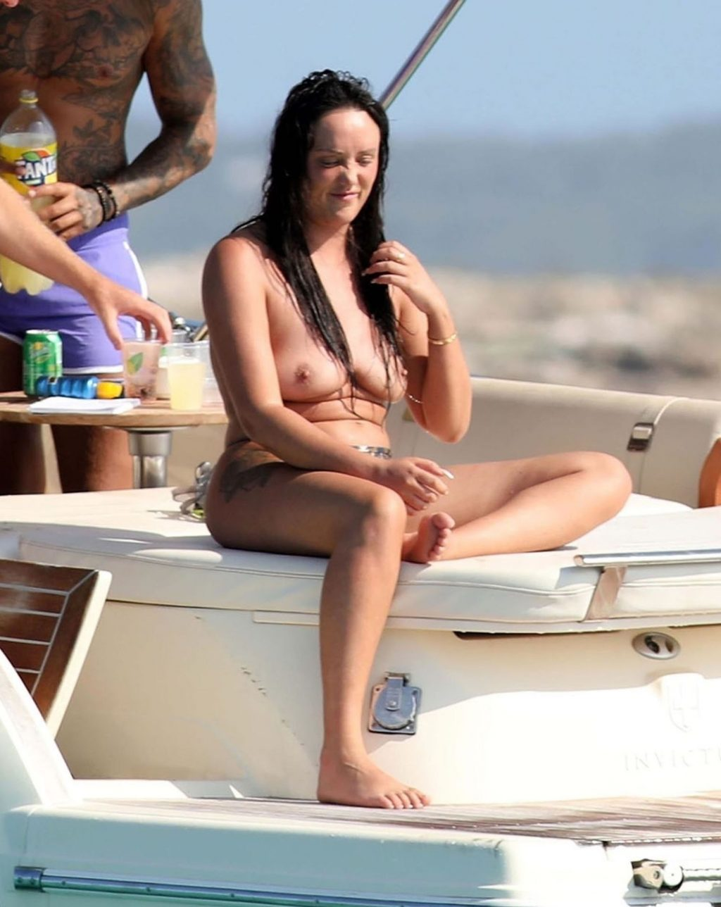 Charlotte Crosby Flaunts Her Nude Tits in Spain (36 Photos)