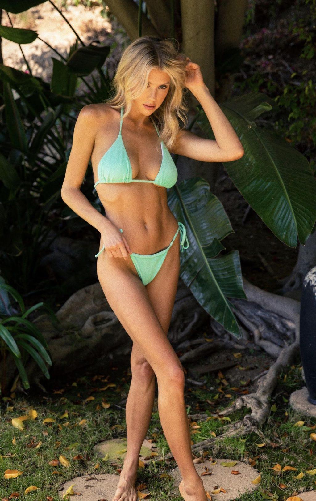 Charlotte McKinney Shows Off Her Figure In PrettyLittleThing Bikini (5 Photos)