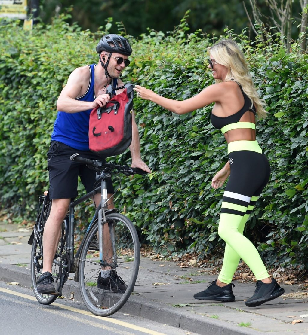 Sexy Christine McGuiness Saves the Day as a Biker Drops His Bag (34 Photos)