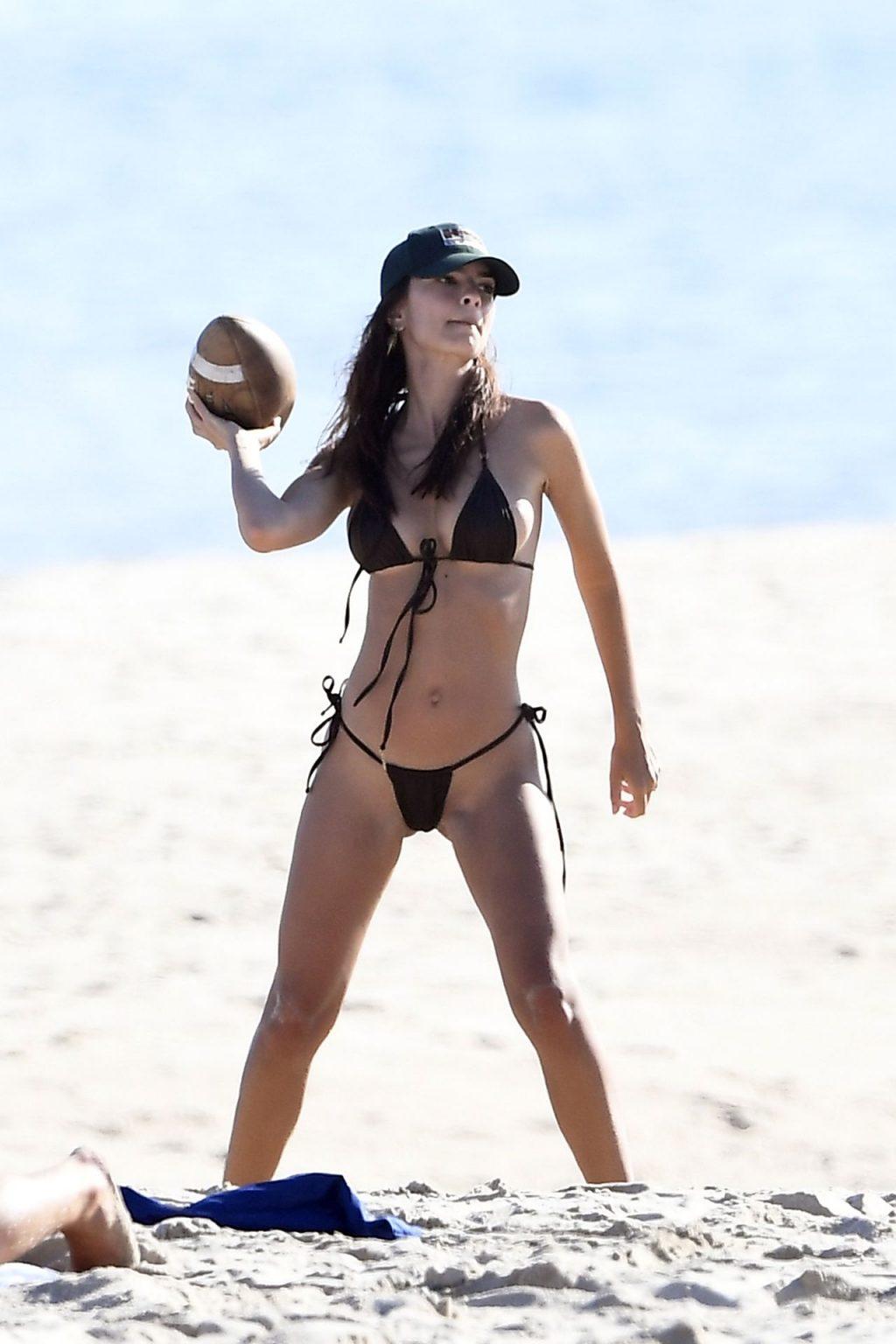 Emily Ratajkowski Plays Football at the Beach (97 Photos)