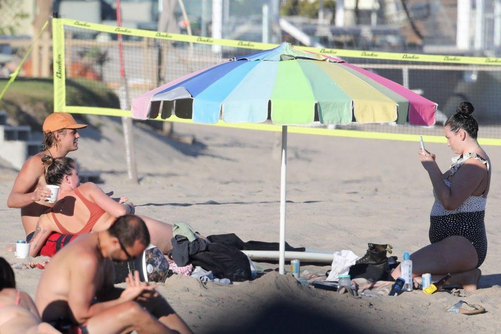 Ireland Baldwin Stuns in a Swimsuit While Enjoying a Beach Day (297 New Photos)
