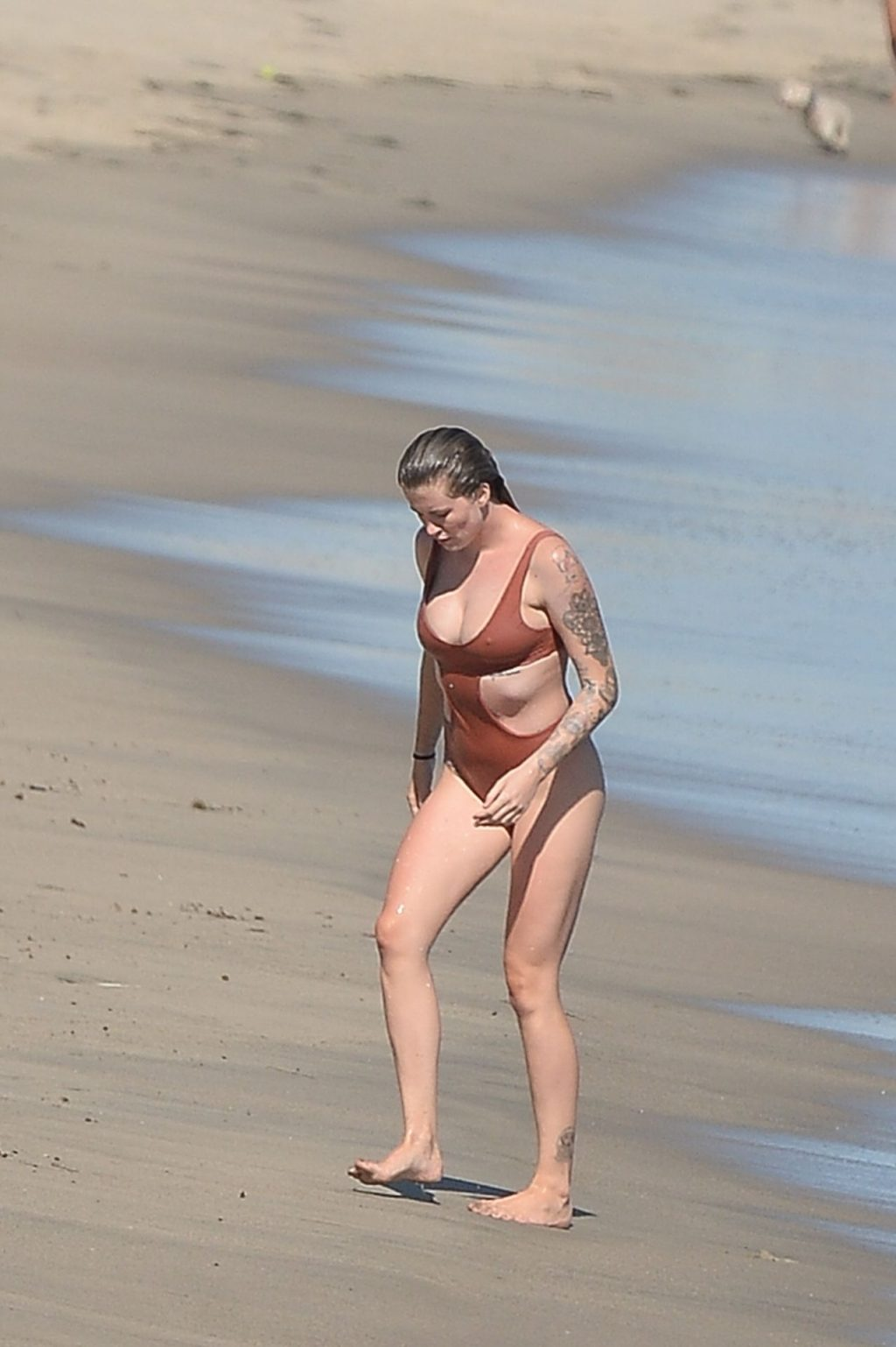 Ireland Baldwin Frolics in the Water as She Stuns in a Red One-Piece (70 New Photos)