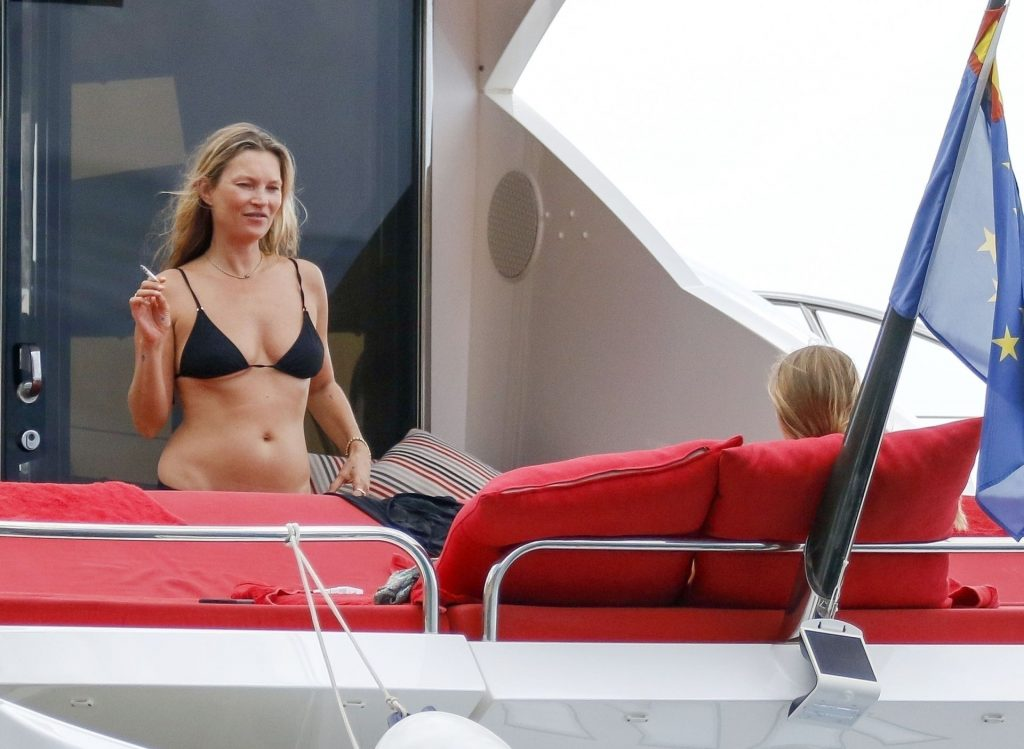 Kate Moss Enjoys a Summer Holiday on Board of a Luxury Yacht in Ibiza (79 Photos)
