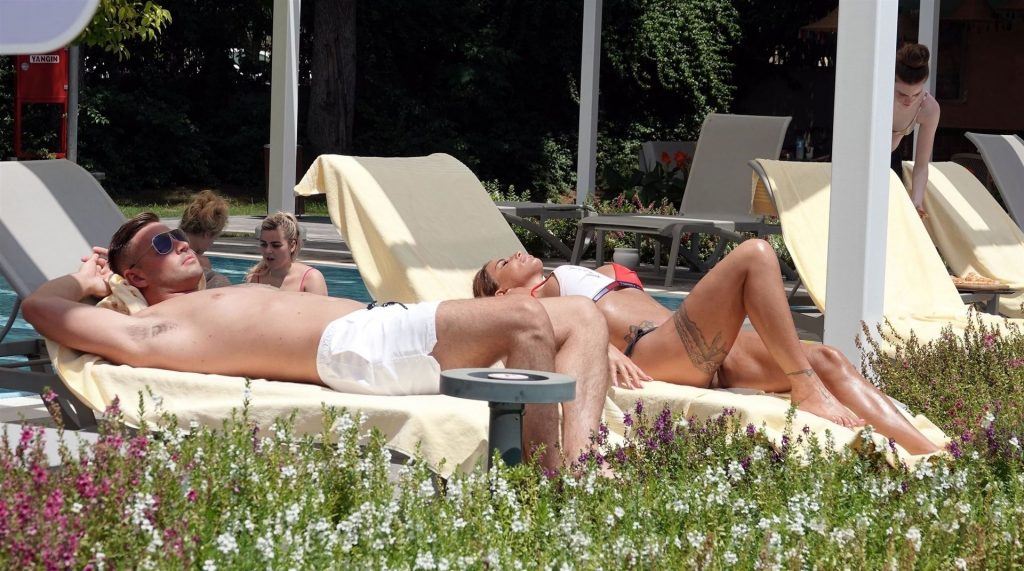 Katie Price Shows Off Her Bikini Body While Relaxing Poolside at a Hotel in Turkey (41 Photos)