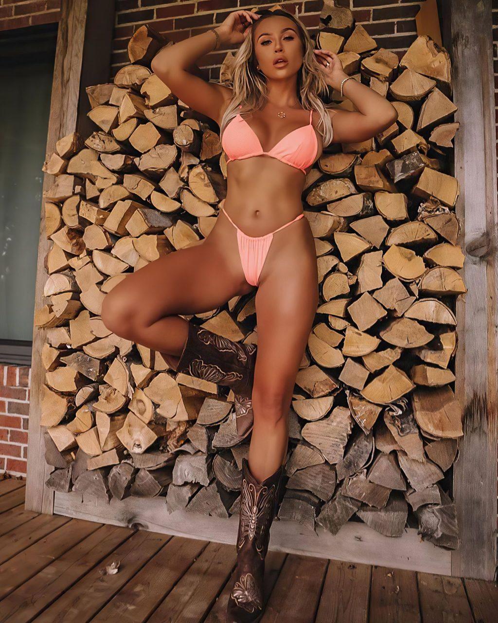 Sexy Khloe Terae Poses in Pink Bikinis (16 Photos)
