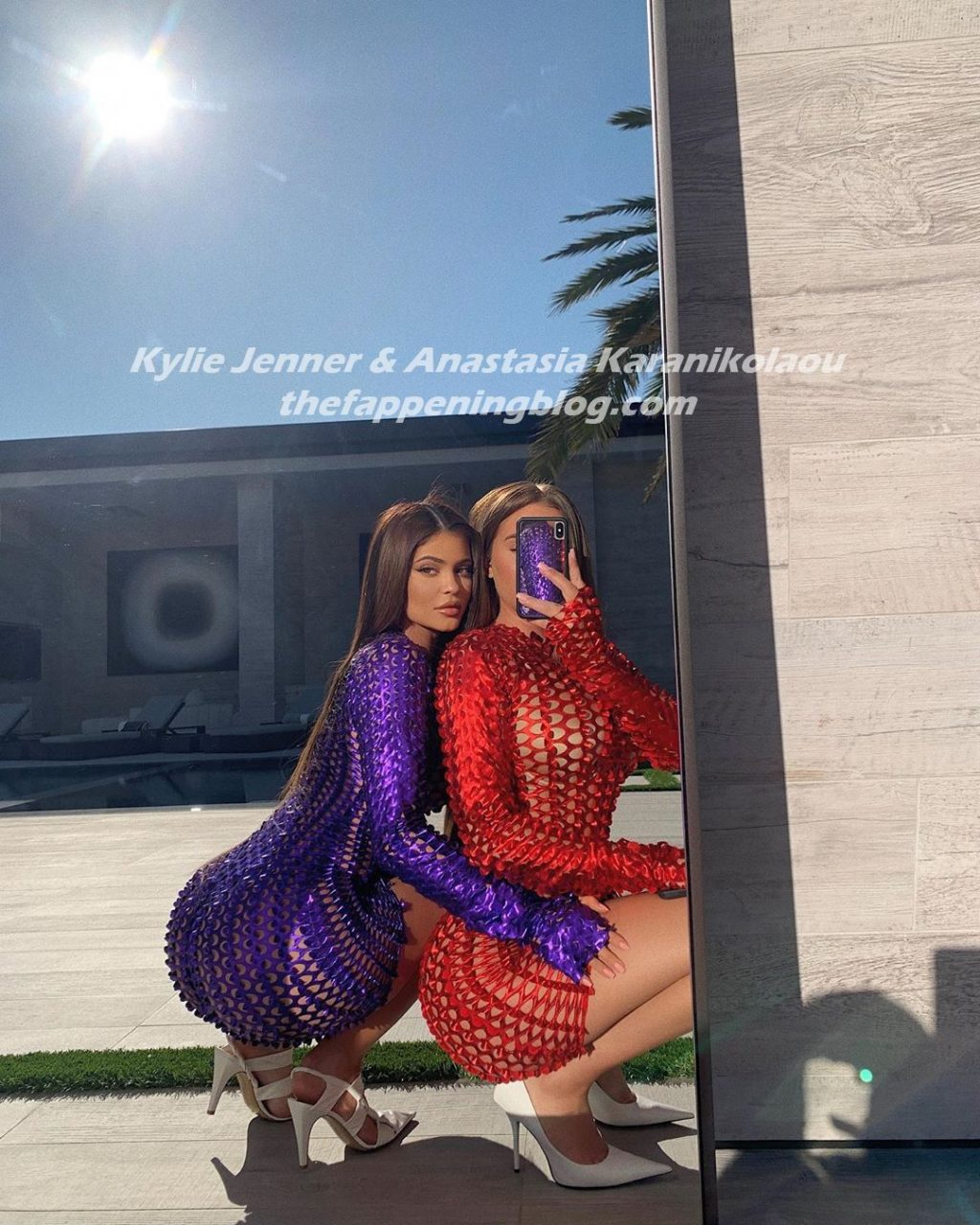 Kylie Jenner & Anastasia Karanikolaou Sexy (3 Photos)