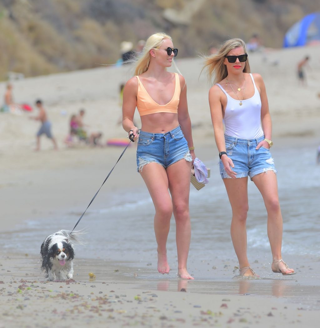 Lindsey Vonn Shows Off Her Olympic Physique as She Hits the Beach in Malibu (43 Photos)