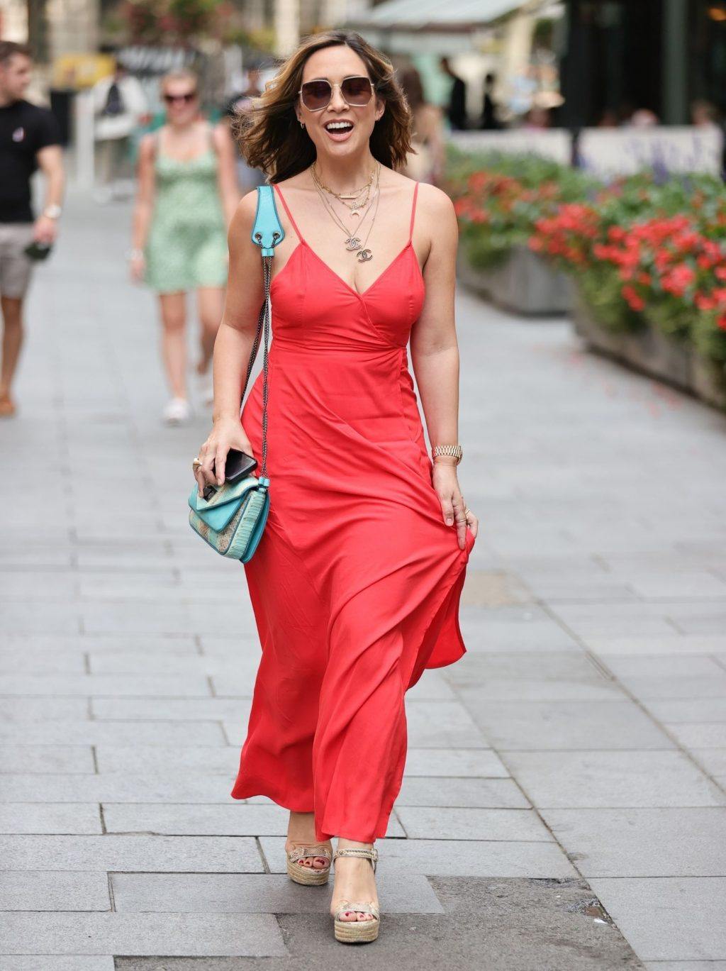 Myleene Klass Looks Stunning in a Red Dress (14 Photos)