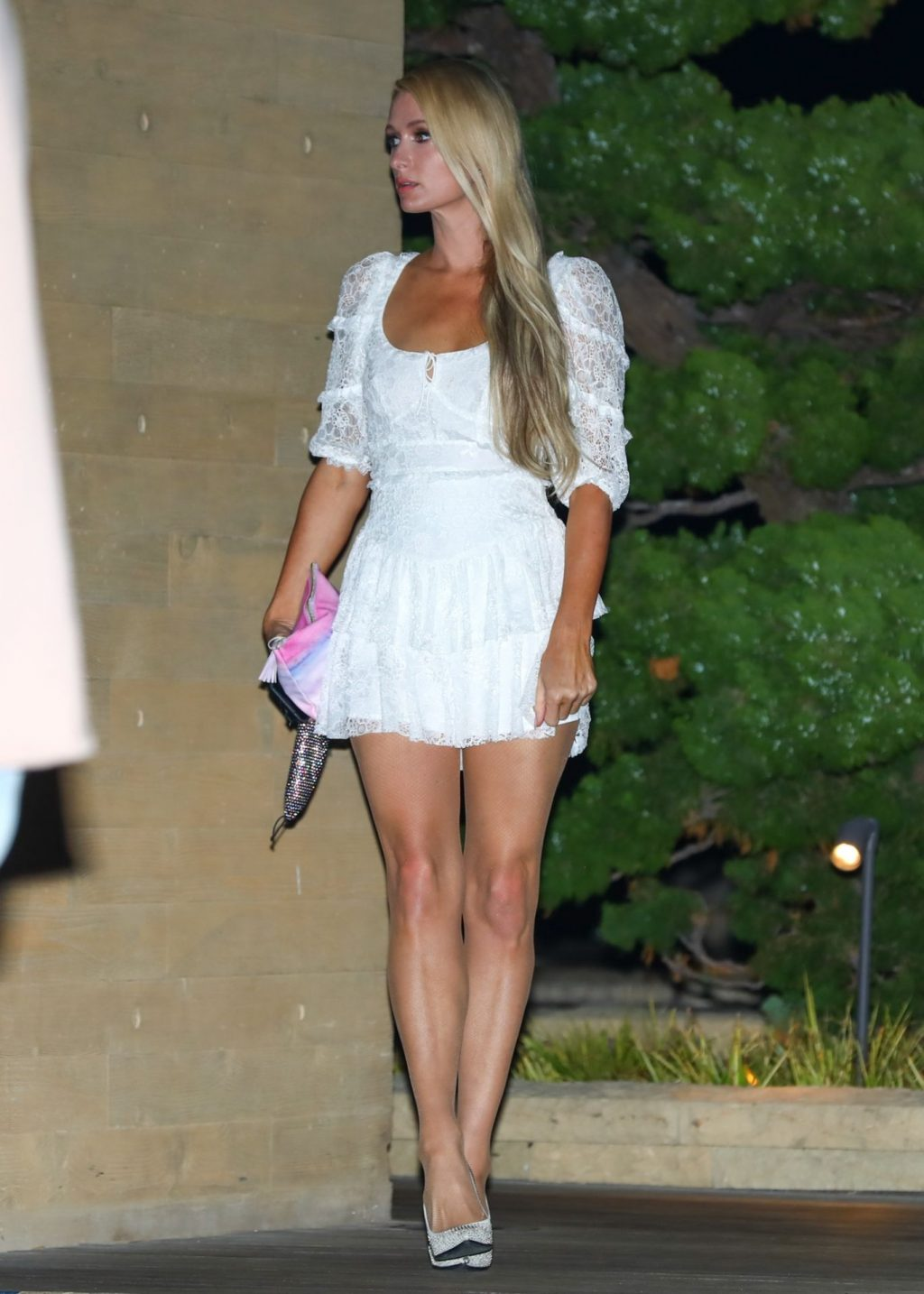 Paris Hilton Arrives in a Short White Dress for Dinner at Nobu (44 Photos)