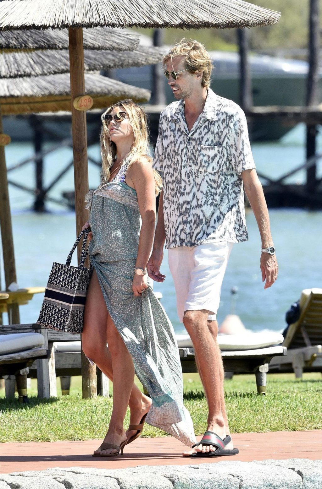 Peter Crouch & Abbey Clancy Are Seen Relaxing on Holiday in Sardinia (18 Photos)