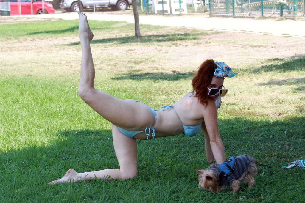 Phoebe Price Poses in a Bikini at a Local Park in LA (73 Photos)