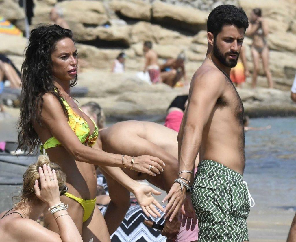 Raffaella Fico Enjoys a Day with Her New Boyfriend on the Beach in Mykonos (50 Photos)