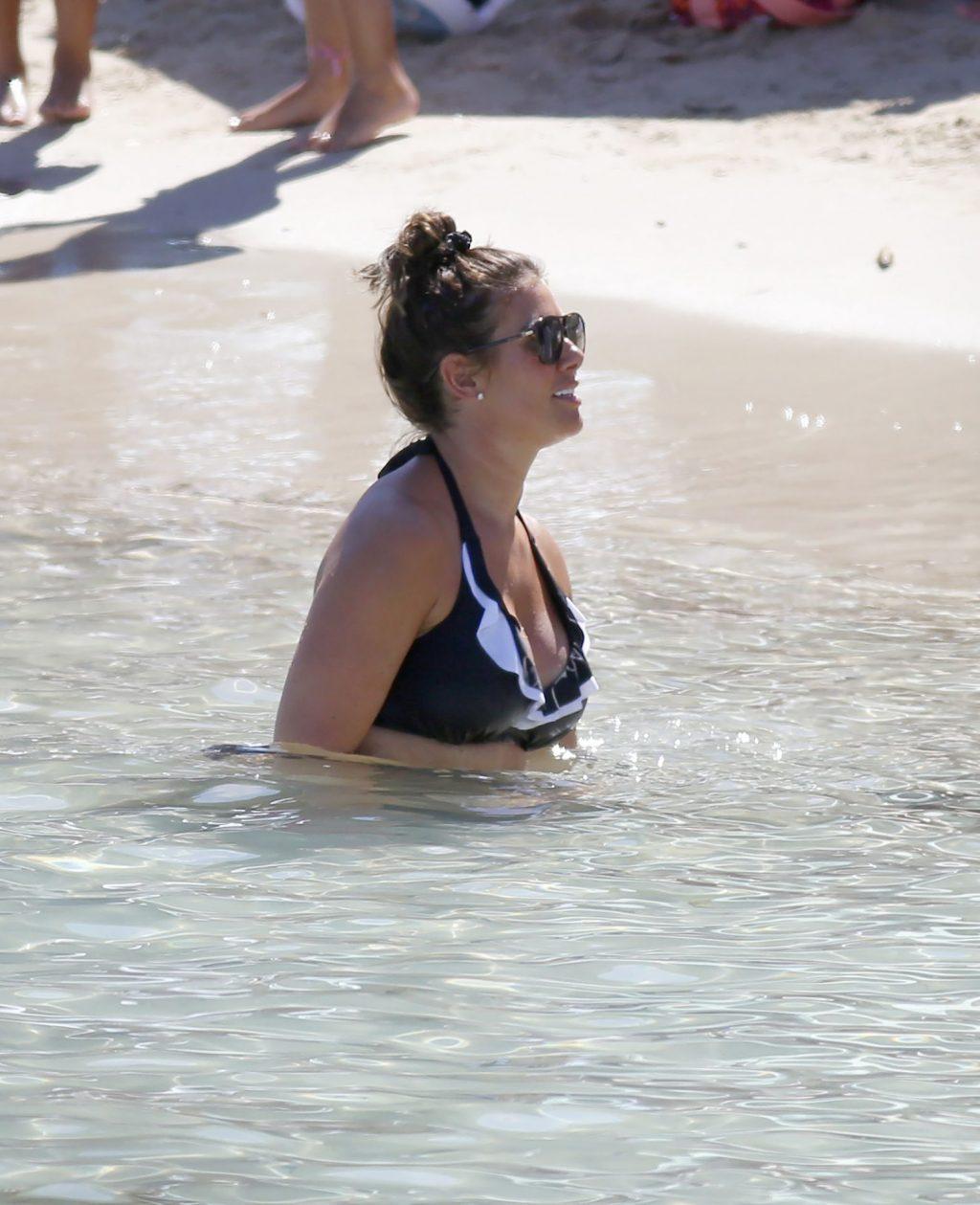 Sexy Rebekah Vardy is Seen on a Beach in Ibiza (78 Photos)