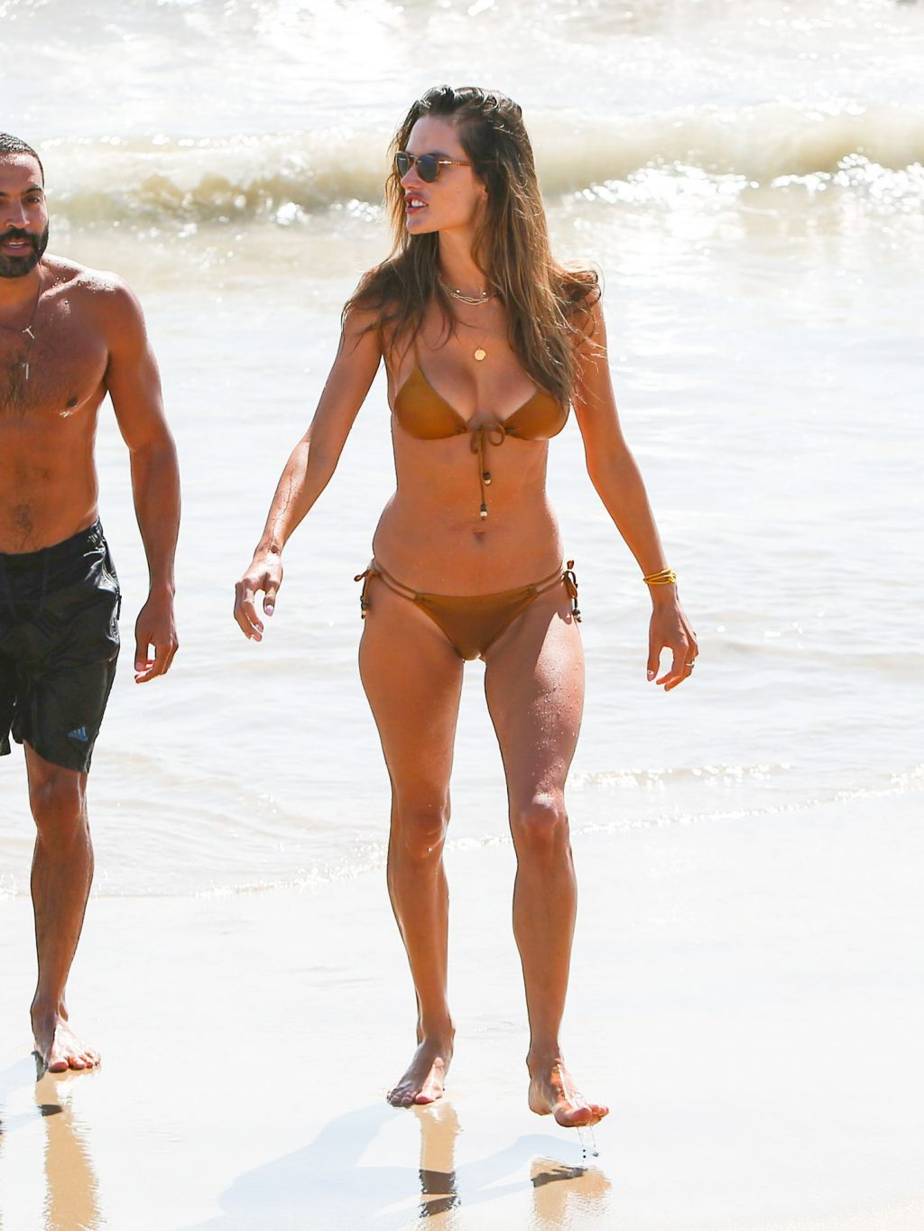Alessandra Ambrosio Shows Off Her Sexy Body on the Beach in Santa Monica (95 Photos)