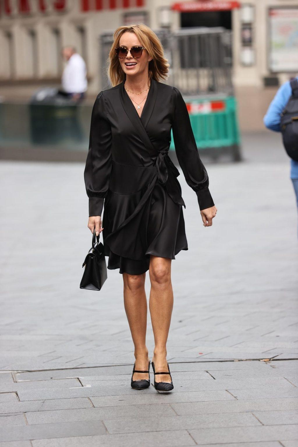 Amanda Holden Wears Black Dress at Heart Radio (53 Photos)