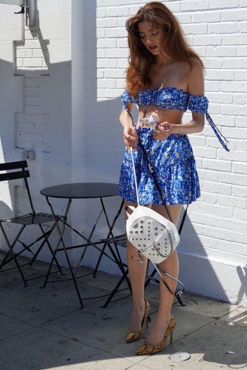 Blanca Blanco Is Seen Grabbing Coffee on Melrose (24 Photos)