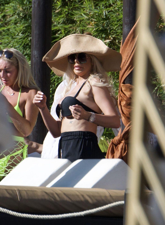 Chloe Ferry Celebrates Her 25th Birthday in a Skimpy Black Bikini in Marbella (39 Photos)