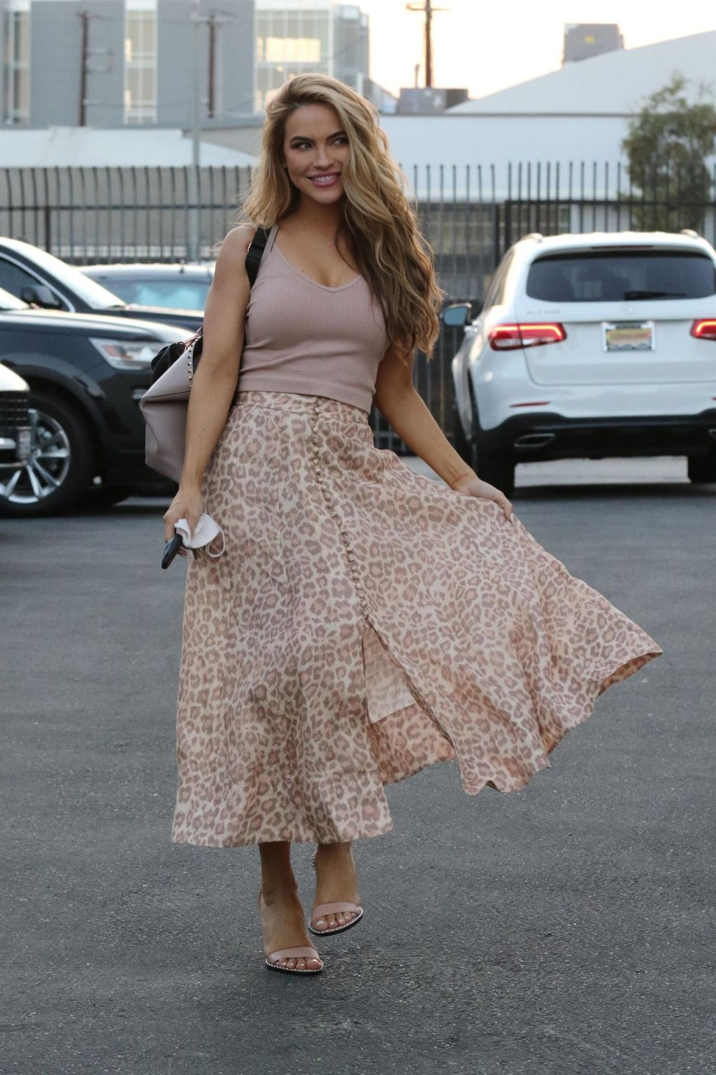 Chrishell Stause is All Smiles Showing Off Her Leopard Skirt Outside the DWTS Dance Studio (55 Photos)