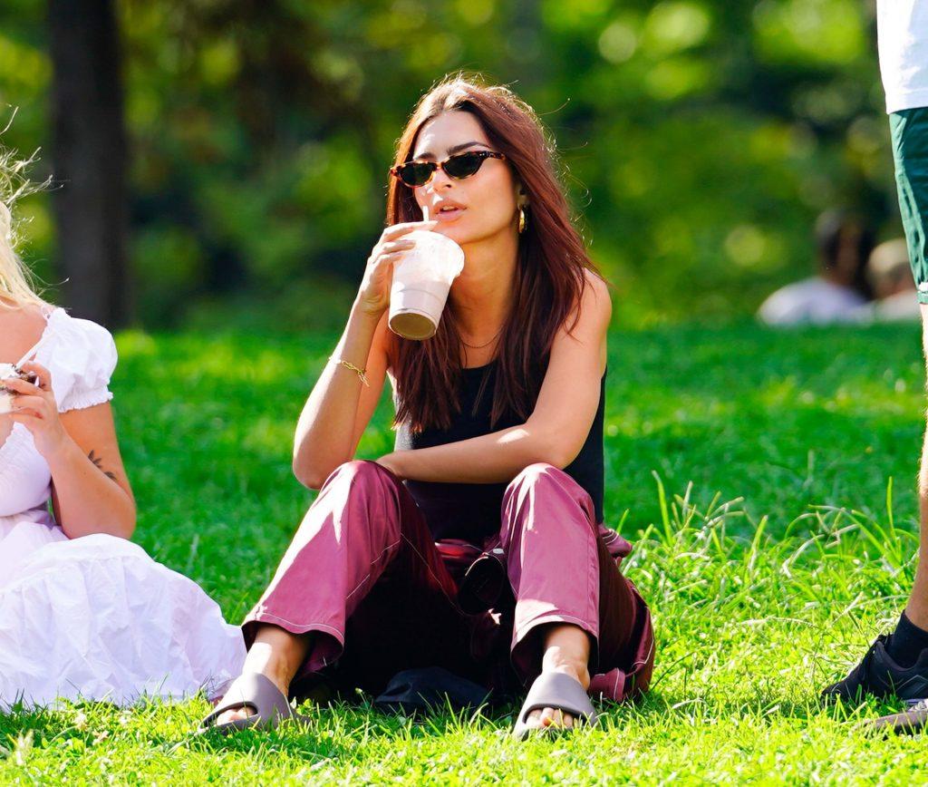 Braless Emily Ratajkowski & Sebastian Bear-McClard are Pictured in Central Park (79 Photos)