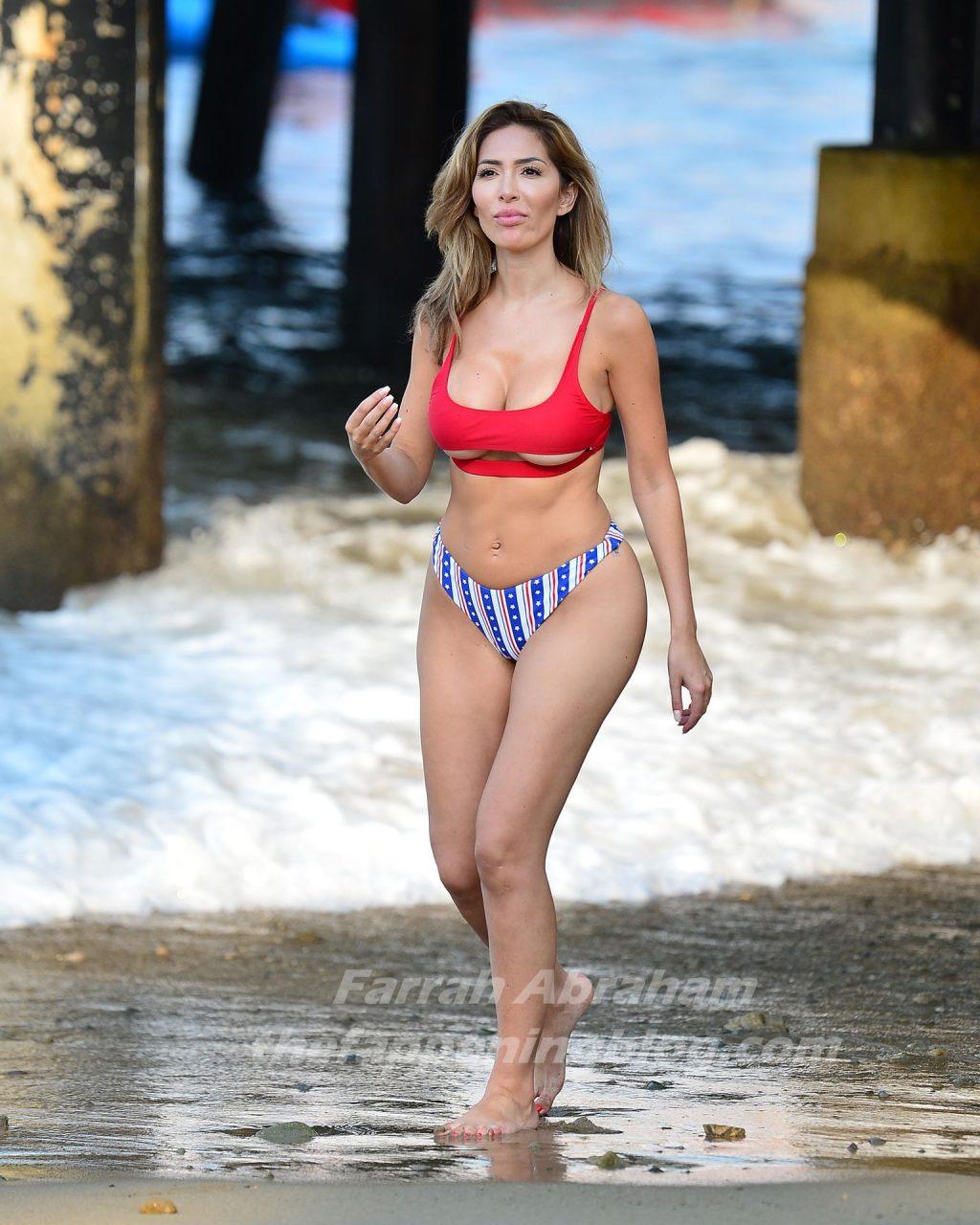 Farrah Abraham Frolics Catalina Island in a Labor Day Inspired Bikini (22 Photos)