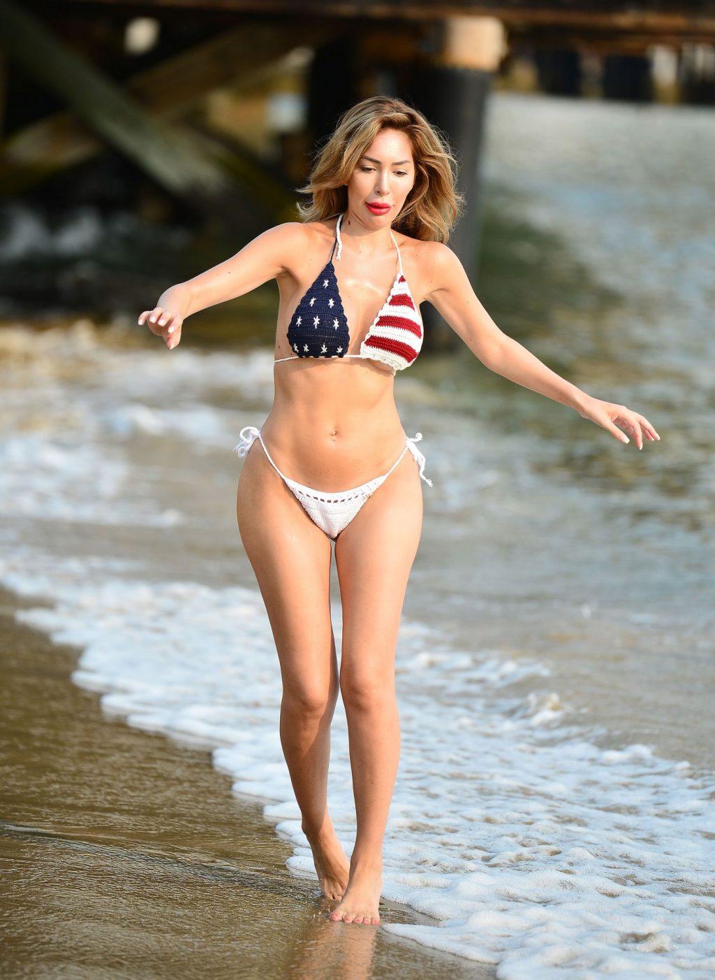 Farrah Abraham Shows Off Her Amazing Body in a Skimpy Patriotic Bikini (45 Photos)