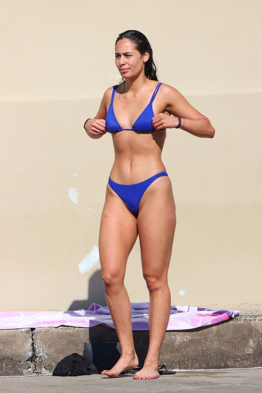 Leilani Vakaahi Shows Off Her Curvaceous Figure at a Beach in Sydney (50 Photos)