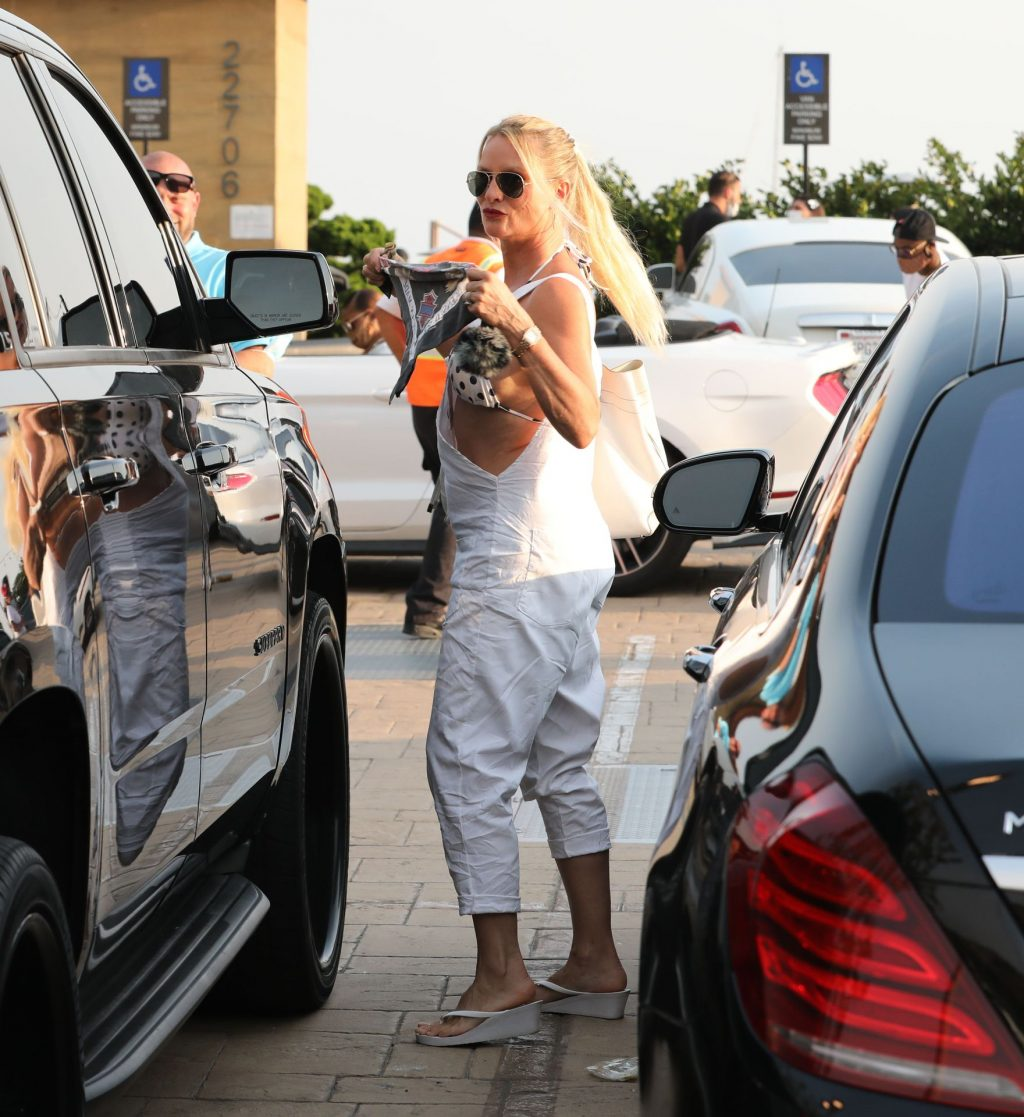 Nicollette Sheridan is All Smiles While Arriving for Dinner at Nobu (51 Photos)