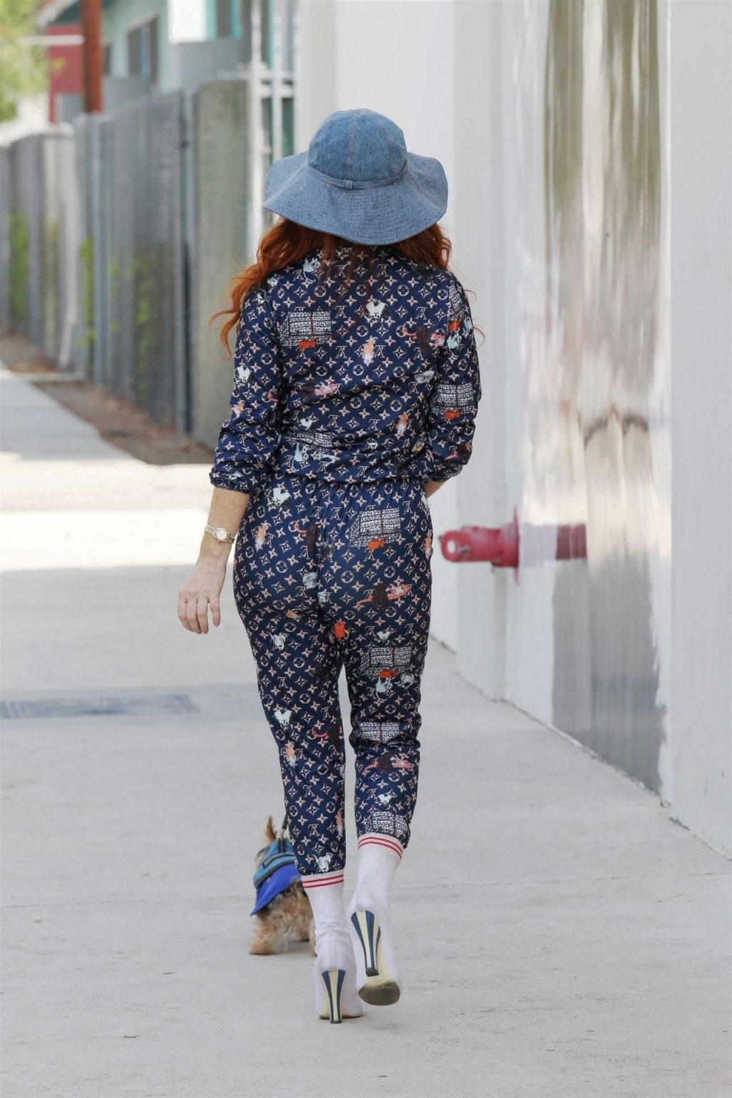 Phoebe Price Sports a Louis Vuitton Track Suit for a Stroll (35 Photos)