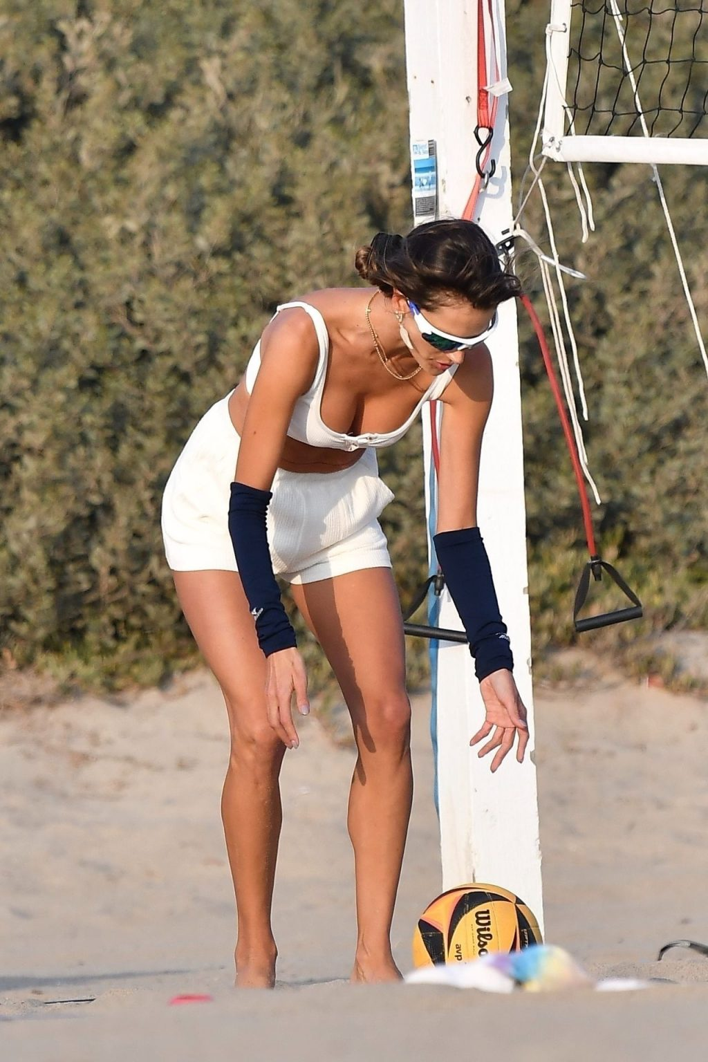 Alessandra Ambrosio Practices Her Volleyball Skills on the Beach with Friends (57 Photos)