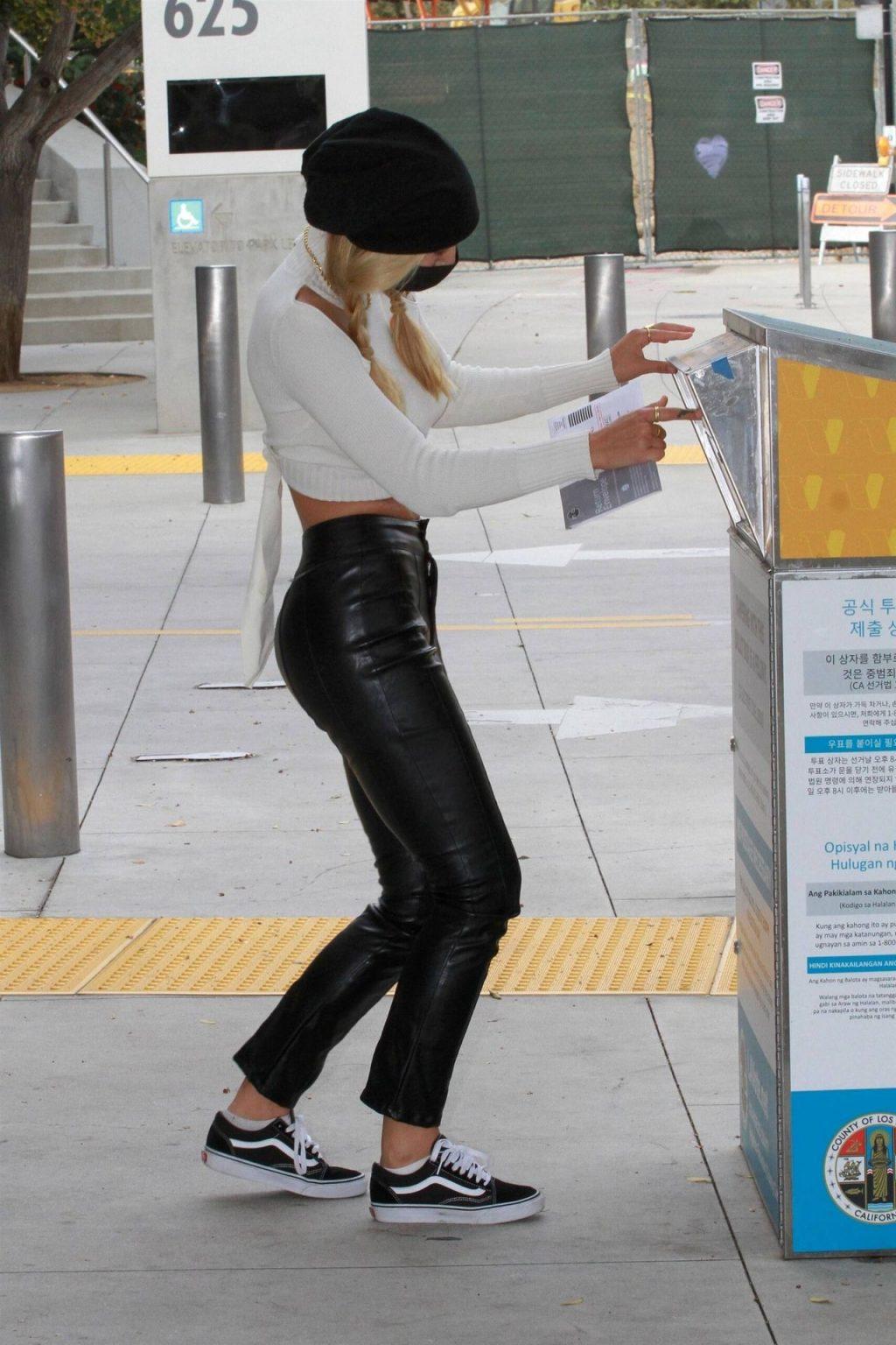 Braless Alexis Ren is Seen Casting Her Vote (31 Photos)