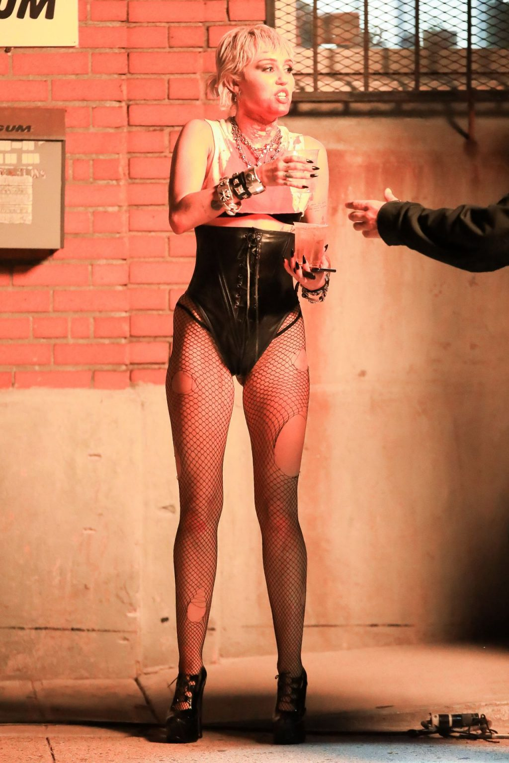 Miley Cyrus is Covered in Blood at Her Video Shoot with Dua Lipa in Brooklyn (30 Photos)