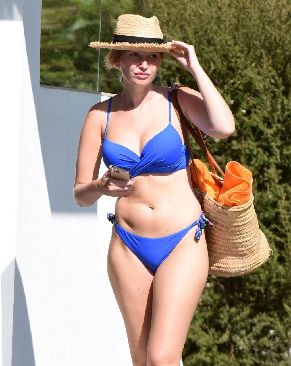 Amy Hart Flaunts Her Sexy Body in a Skimpy Blue Bikini Out in Portugal (32 Photos)