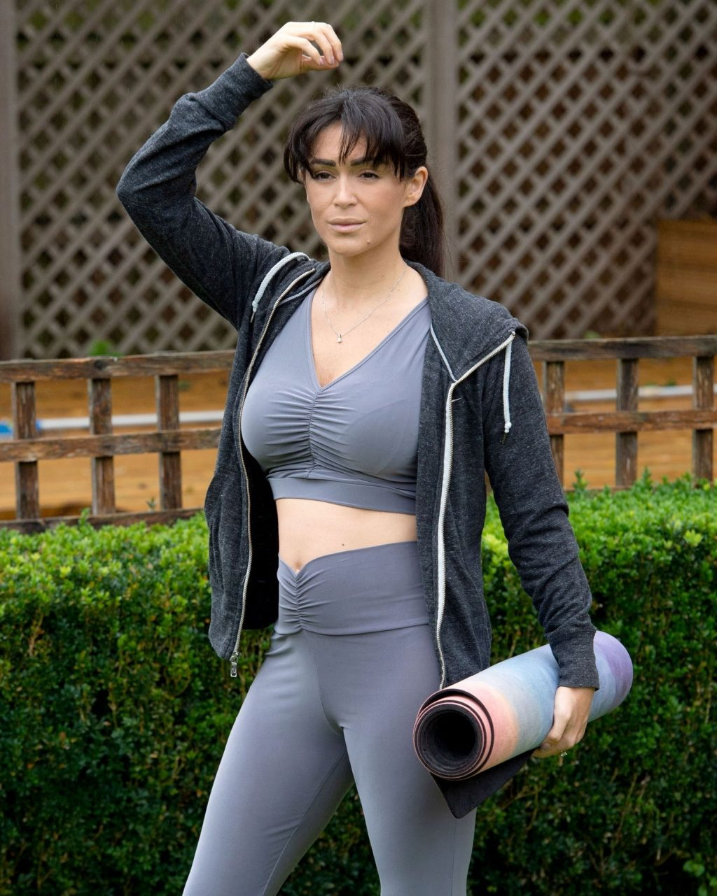 Casey Batchelor Shows Off Her Impressive Yoga Moves in London (10 Photos)