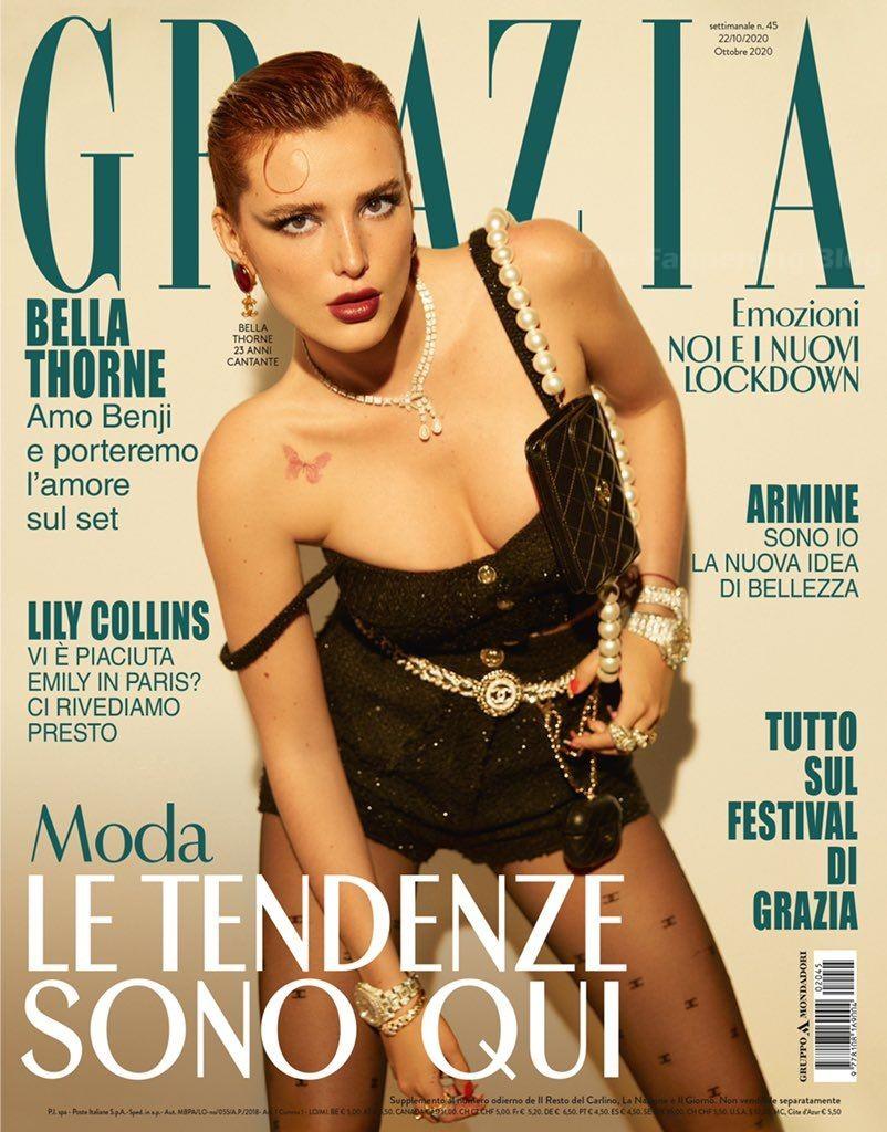 Bella Thorne Sexy & Topless – Grazia Magazine (12 Photos)