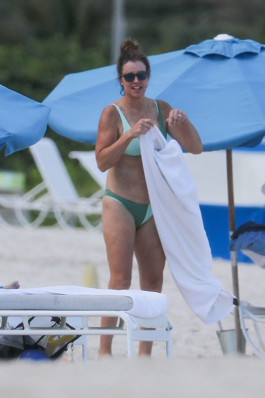 Shirtless Peyton Manning Hits the Blue Waters of the Atlantic with Wife Ashley Thompson (22 Photos)