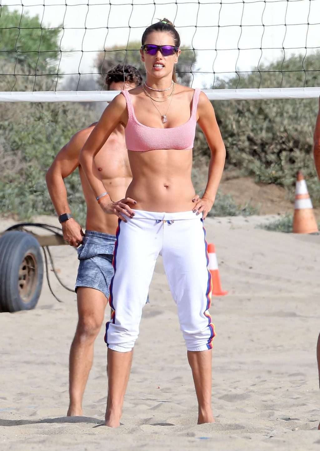 Alessandra Ambrosio Shows Off Her Abs as She Plays Beach Volleyball (116 Photos)