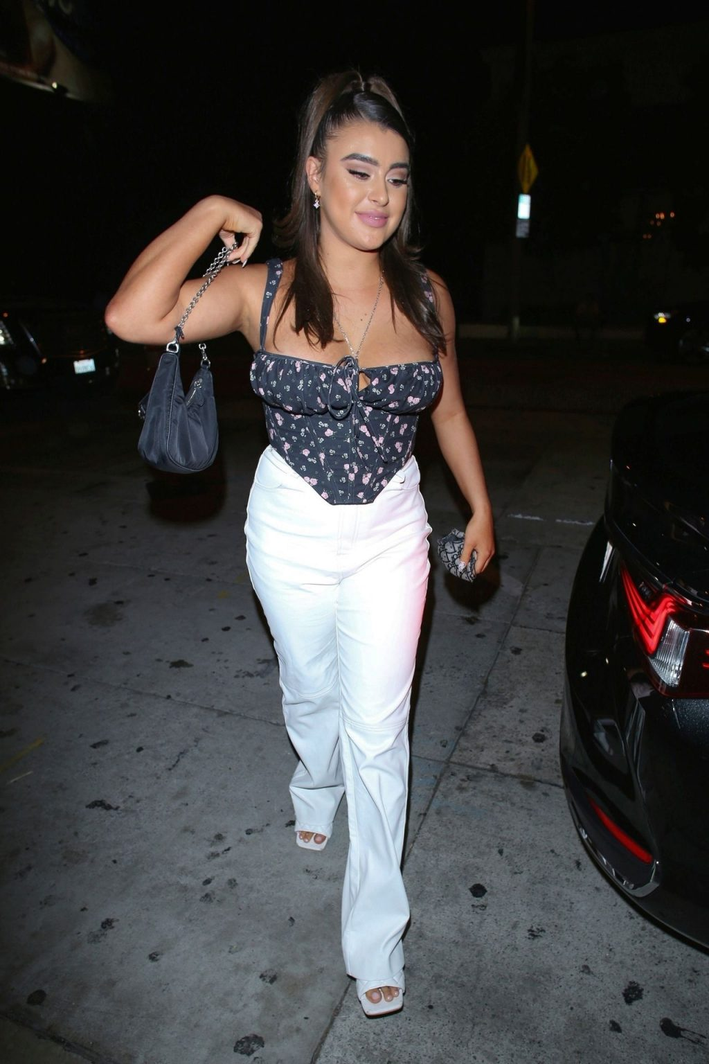Kalani Hilliker Shows Off Her Tits as She Arrives at Catch in WeHo (20 Photos)