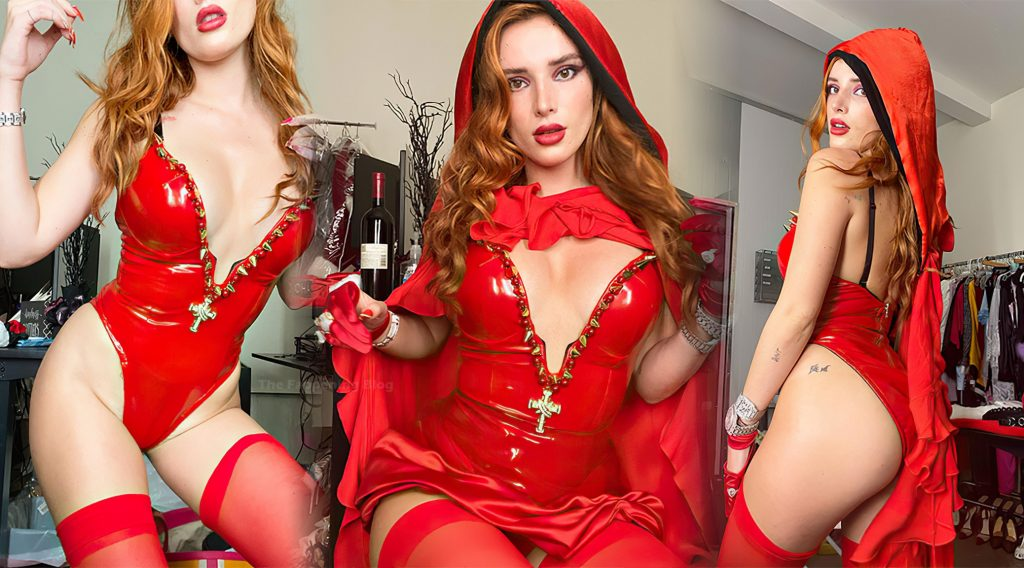 Bella Thorne Looks Hot in a Red Latex Dress (8 Photos)