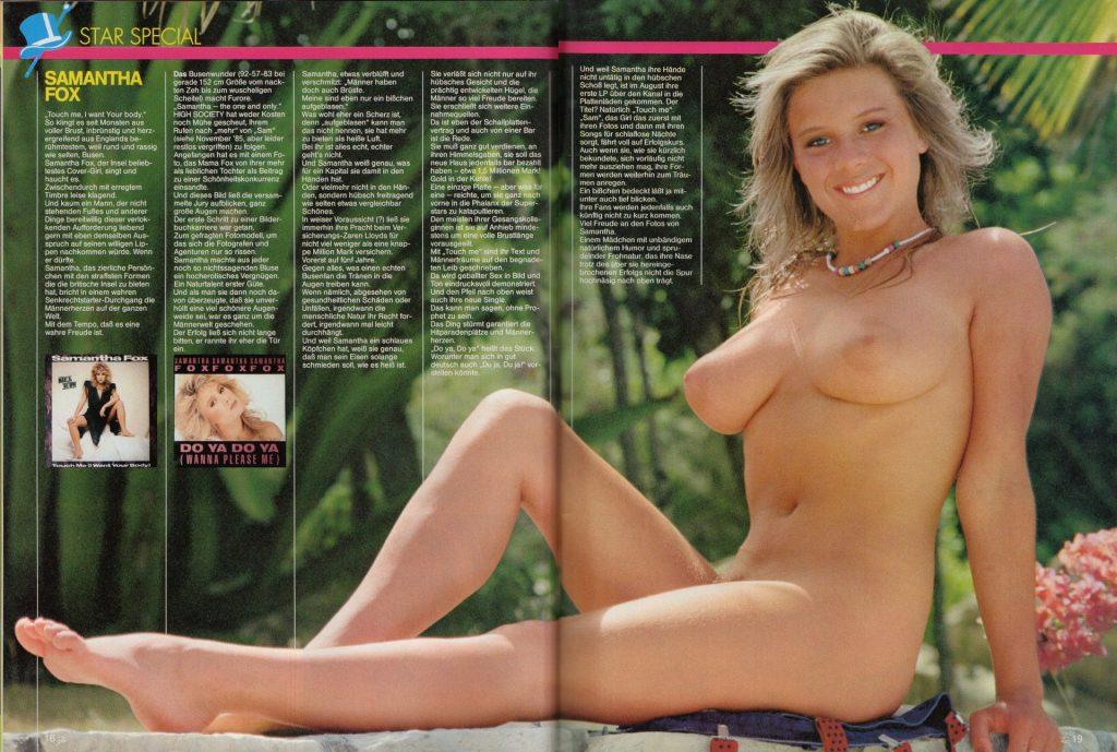 Samantha Fox Nude (4 Photos)
